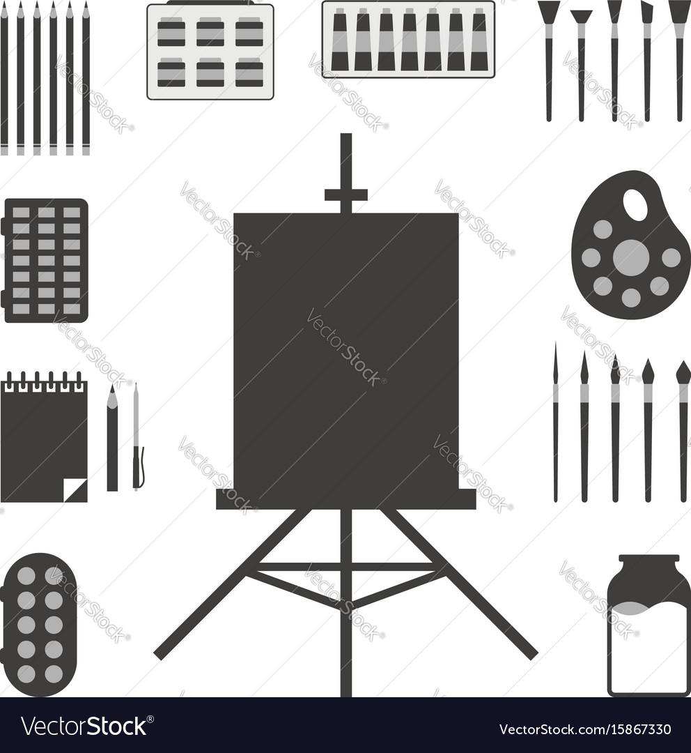 Set of black art things