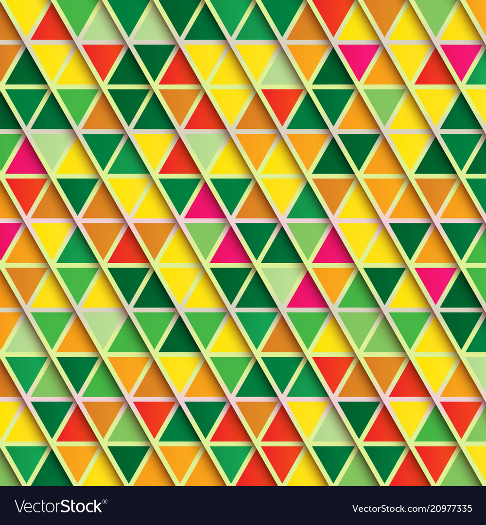 Abstract triangle background multicolor pattern