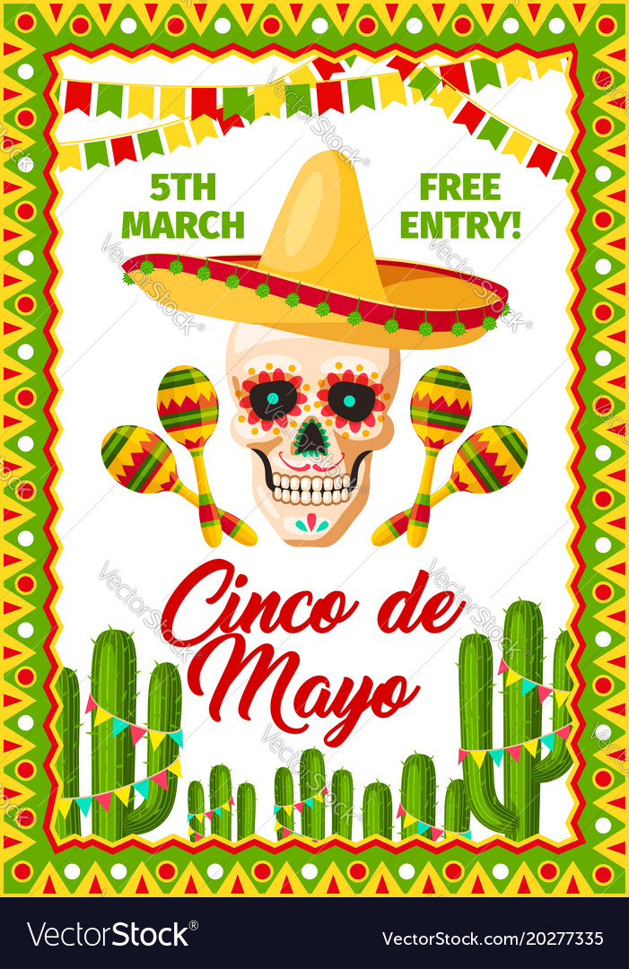 Cinco de mayo mexican party invitation royalty free vector cinco de mayo mexican party invitation vector image stopboris Images