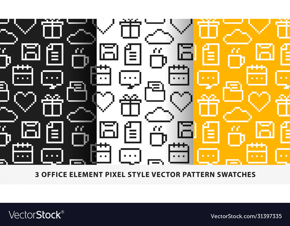 Office element pixel style pattern swatches