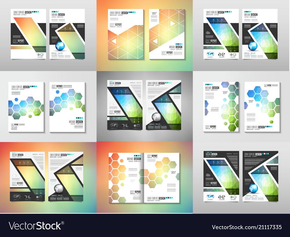 Set brochure templates flyers design or