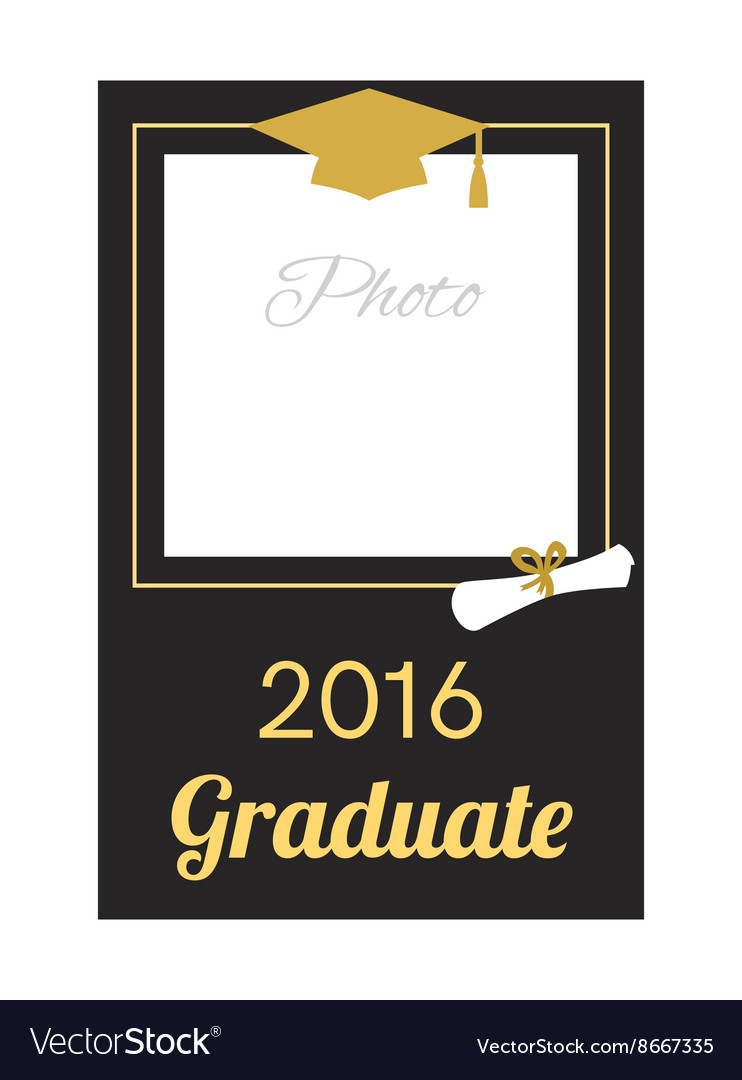 1344c2a2dde Student 2016 graduation photo frame Royalty Free Vector