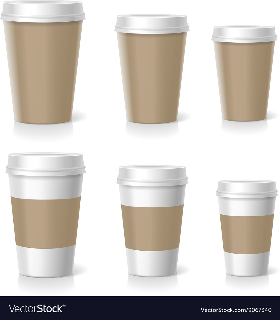 Coffee cups set isolated
