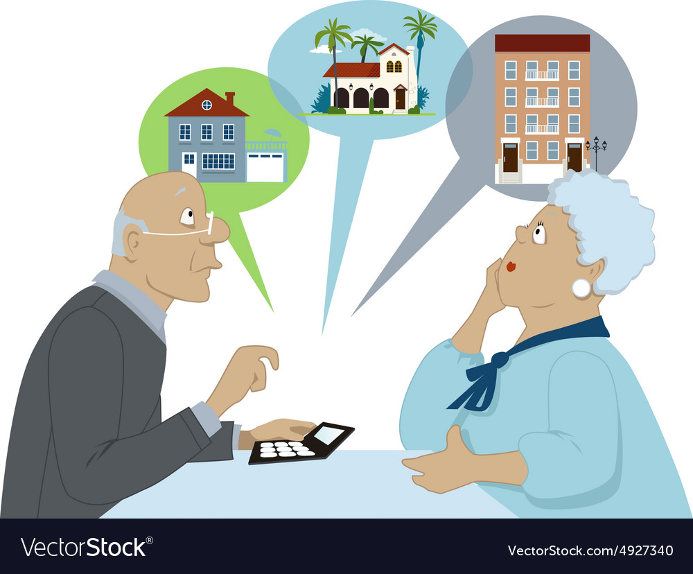 Considering Senior Housing Options Royalty Free Vector Image