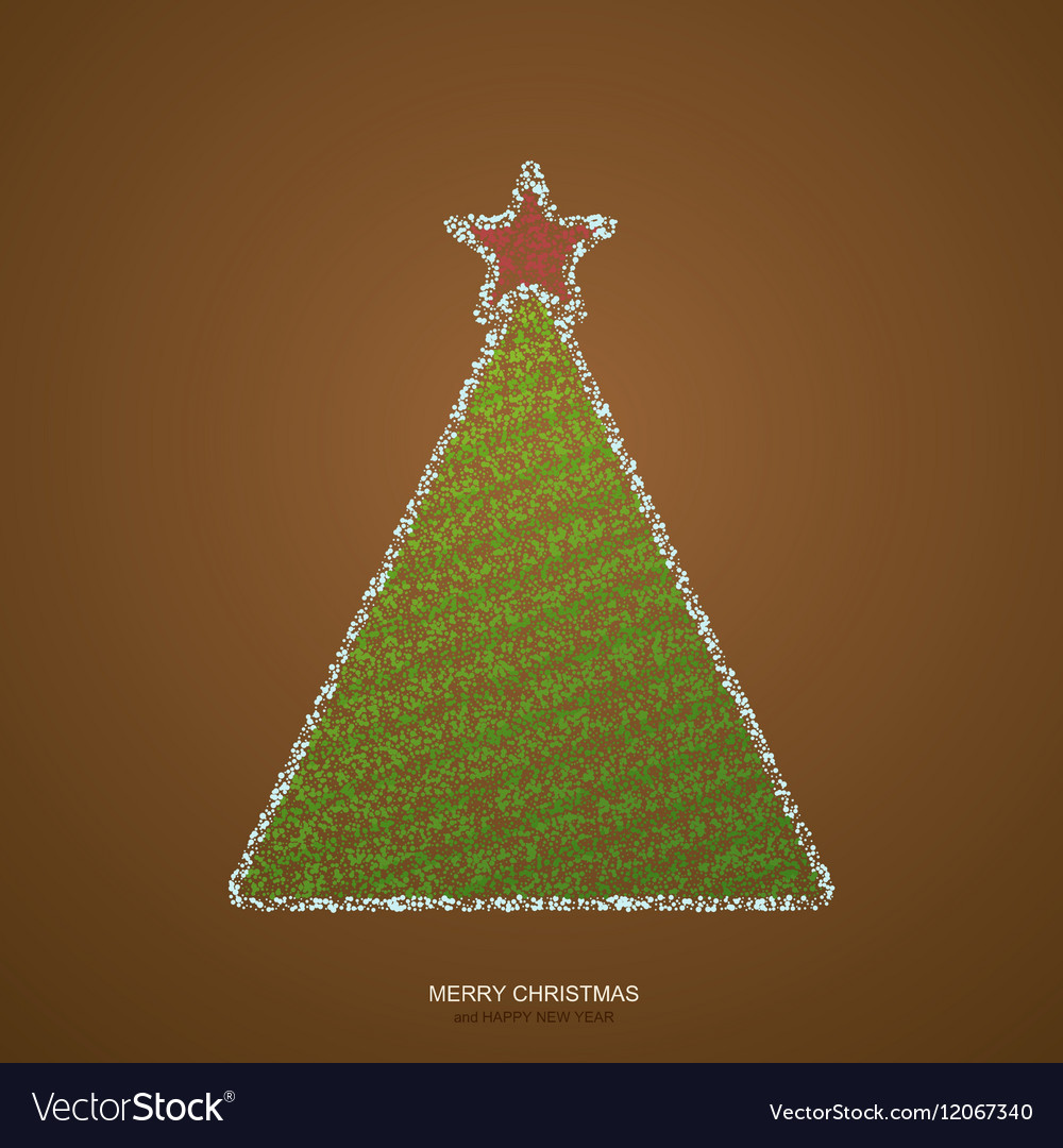 modern christmas tree background vector image - Modern Christmas