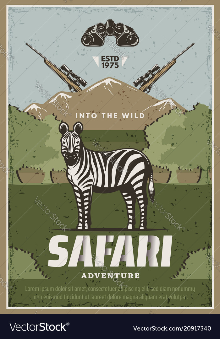 Safari adventure poster