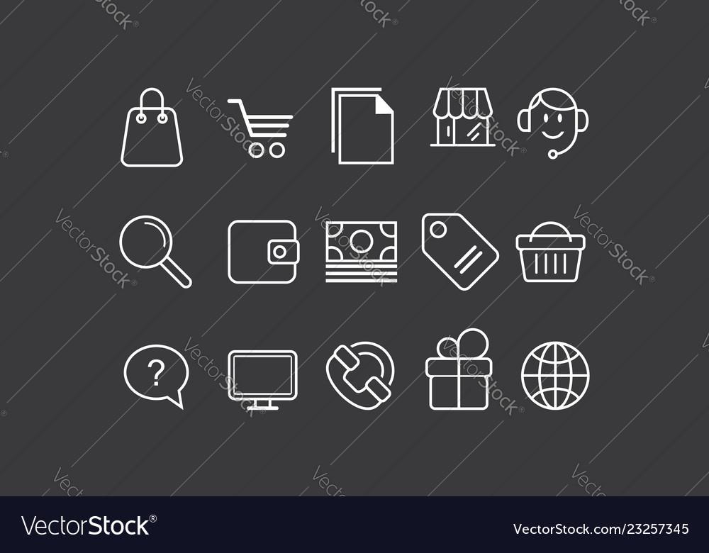 Application icon line art logo