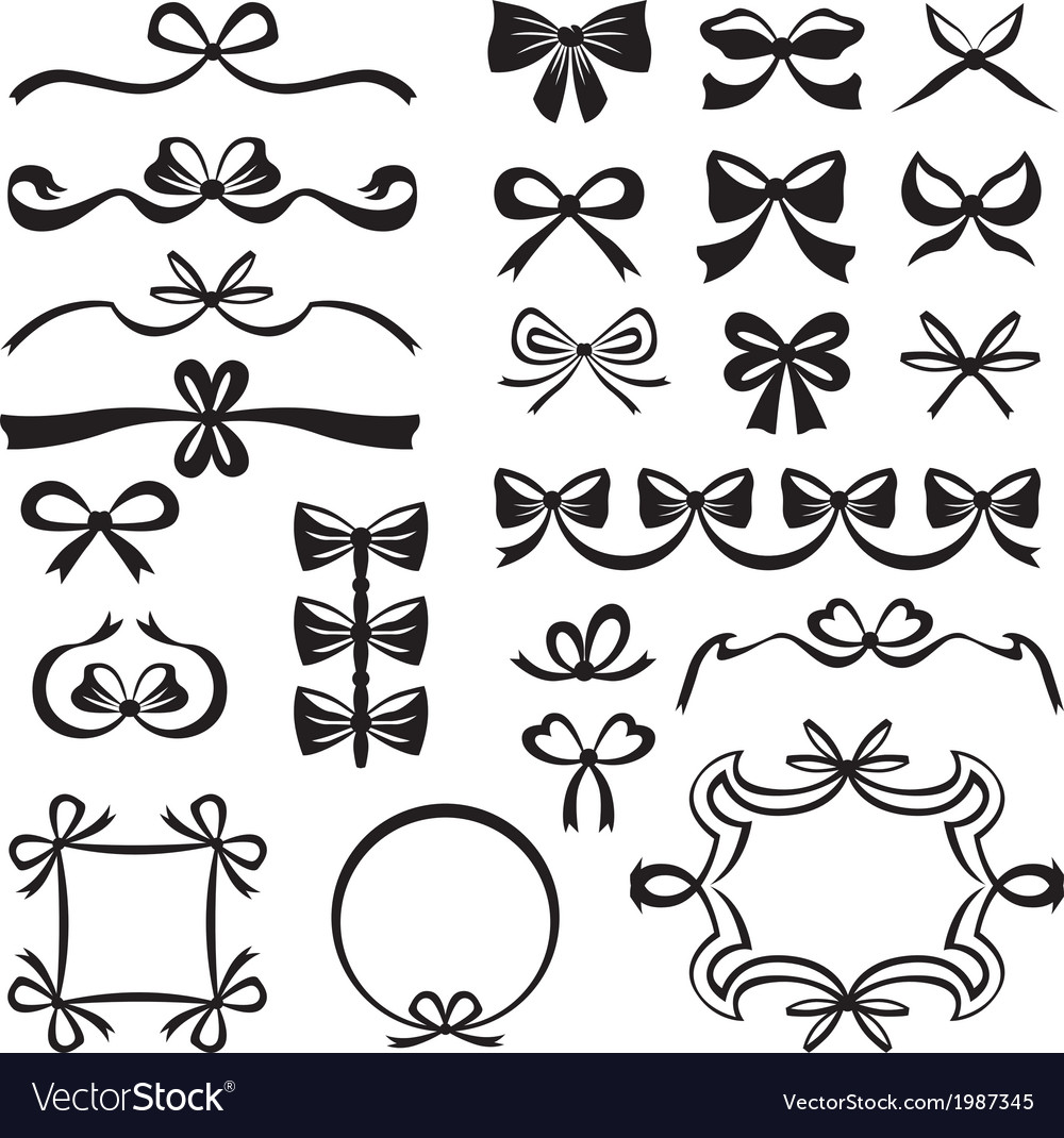 Bow decor vector image