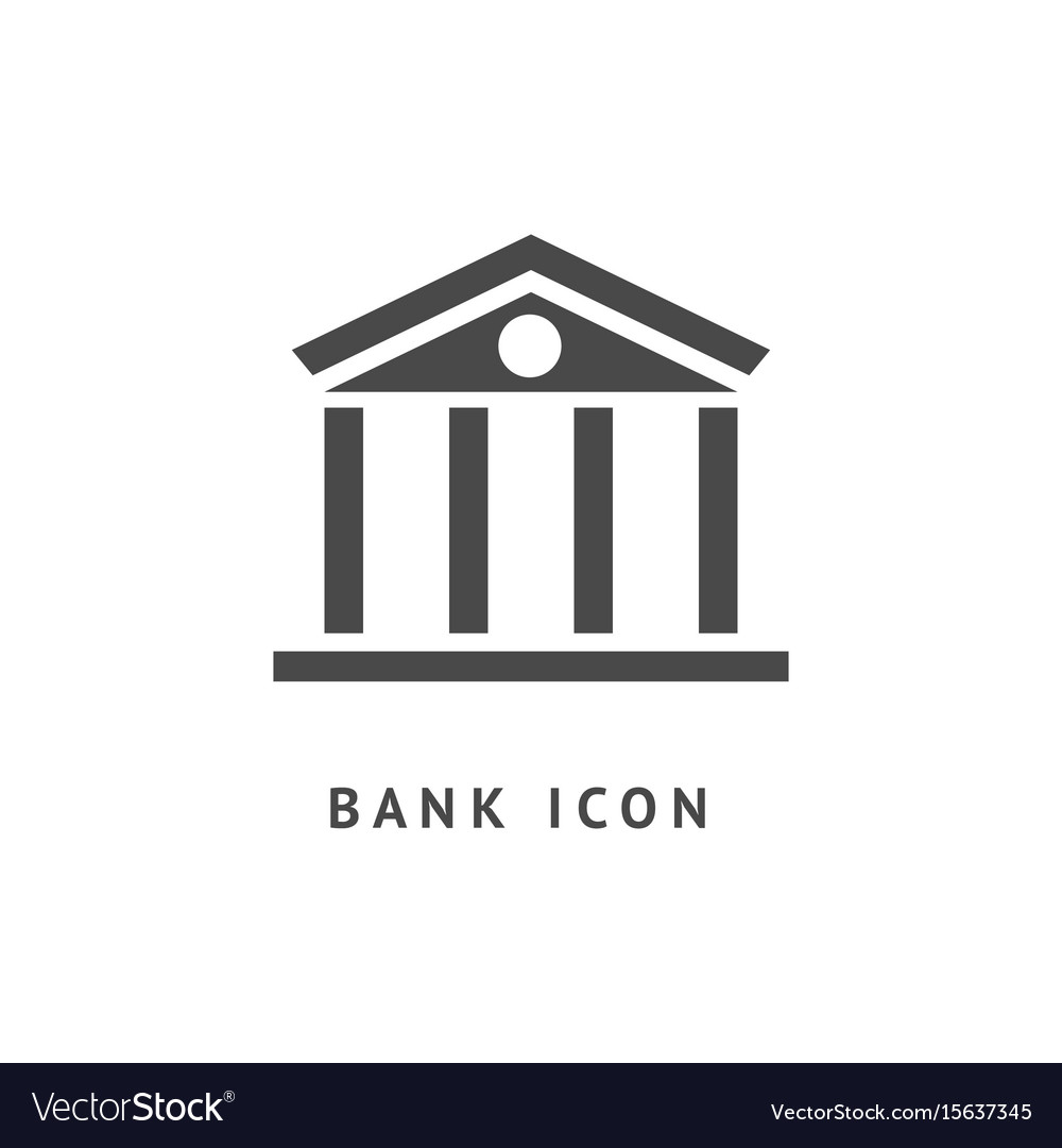 Digital black business bank vector image