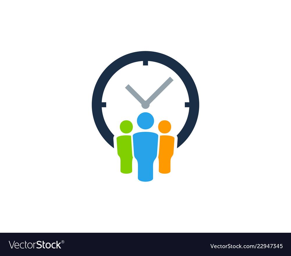 Group time logo icon design