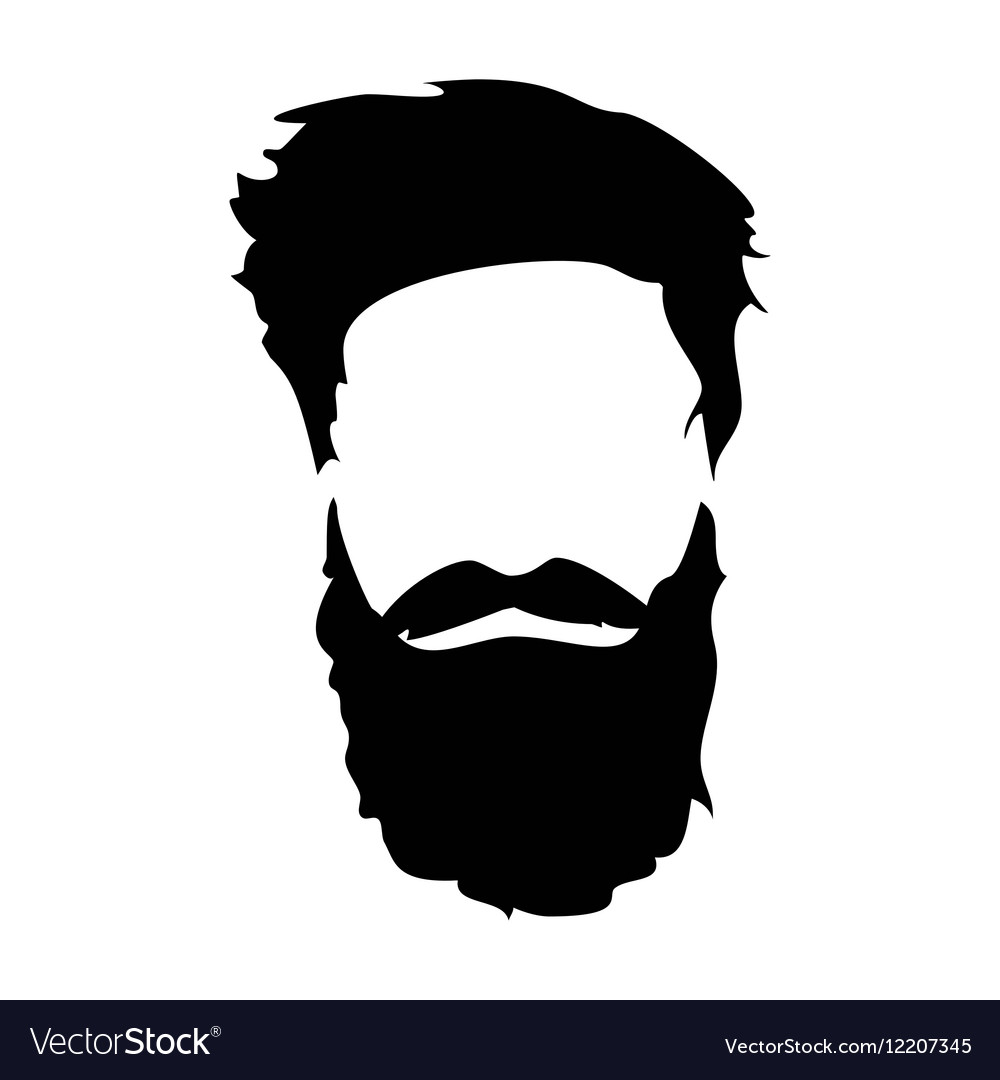 Hipster detailed hair and beards set Fashion