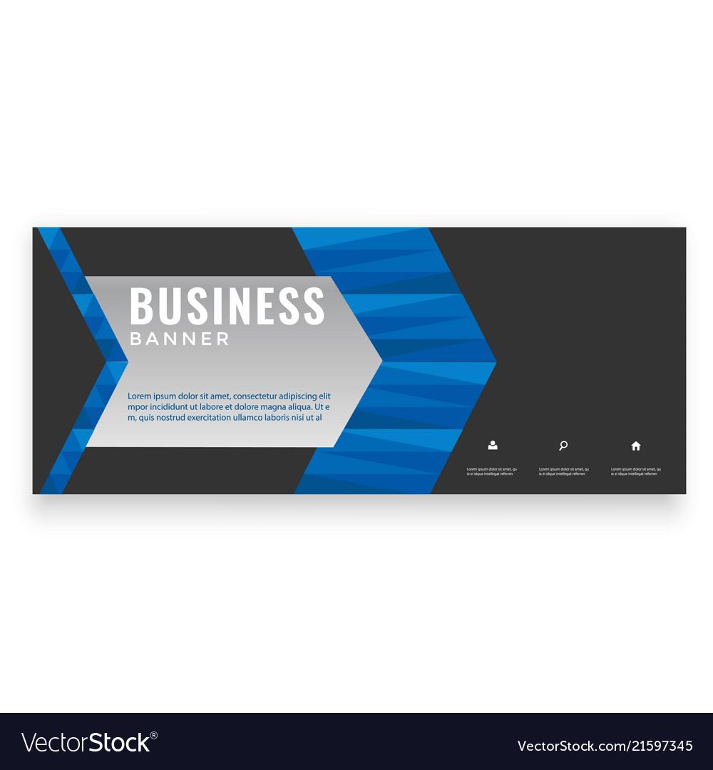 Modern blue arrow design business banner im
