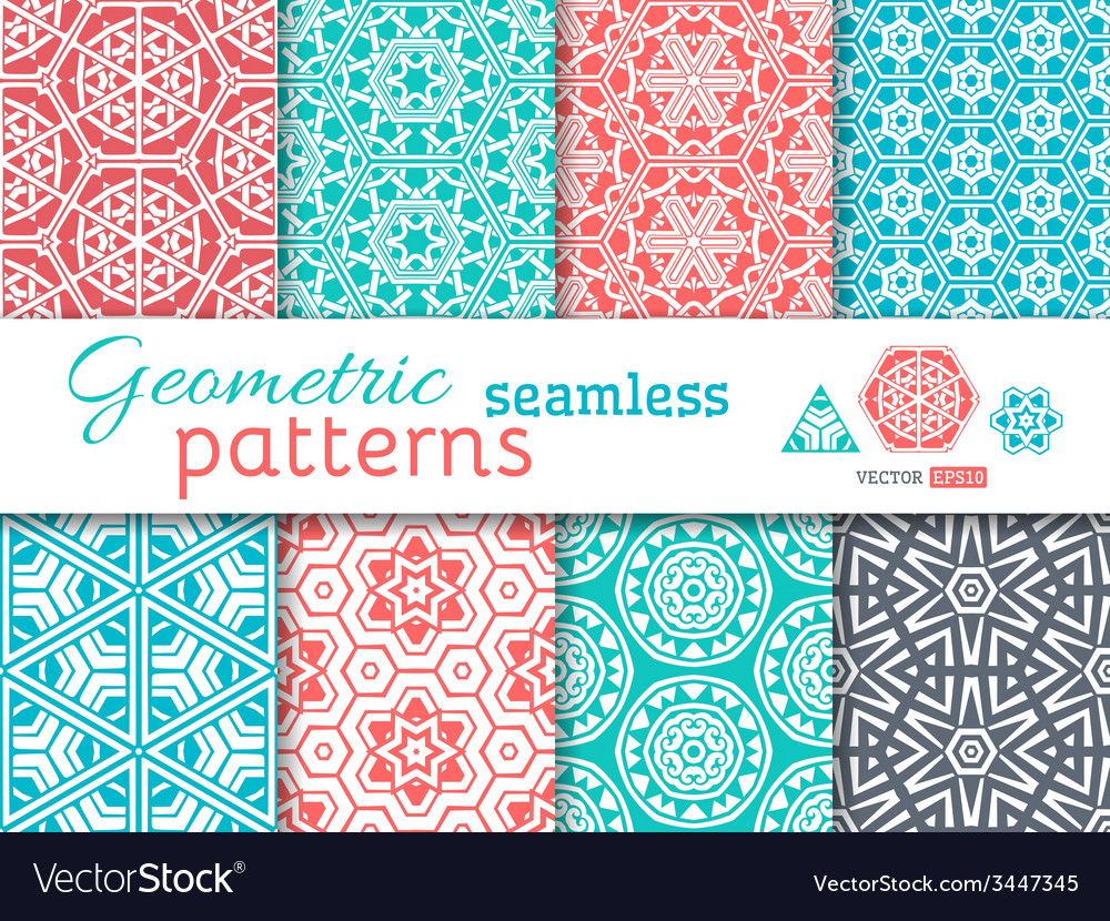 Set of seamless geometric patterns