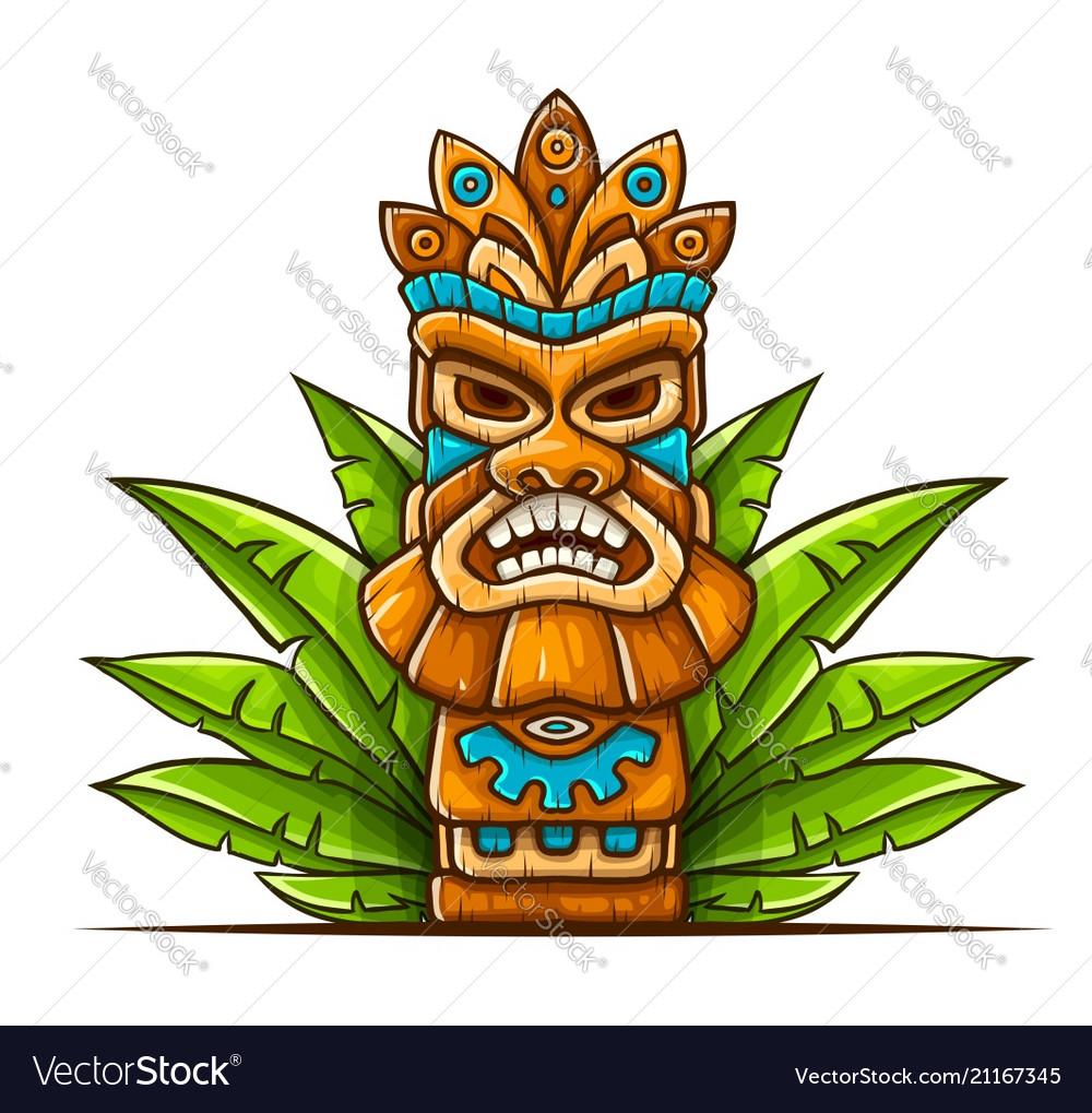 Tiki traditional hawaiian