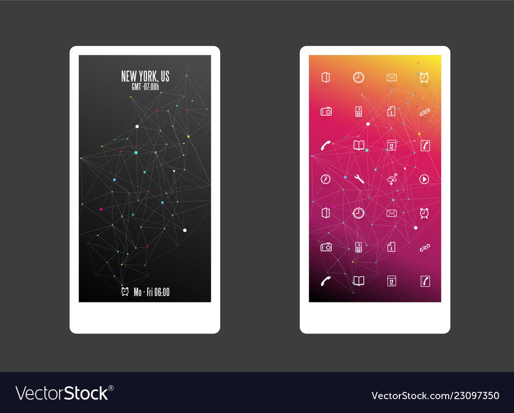 Abstract colored background with different shapes