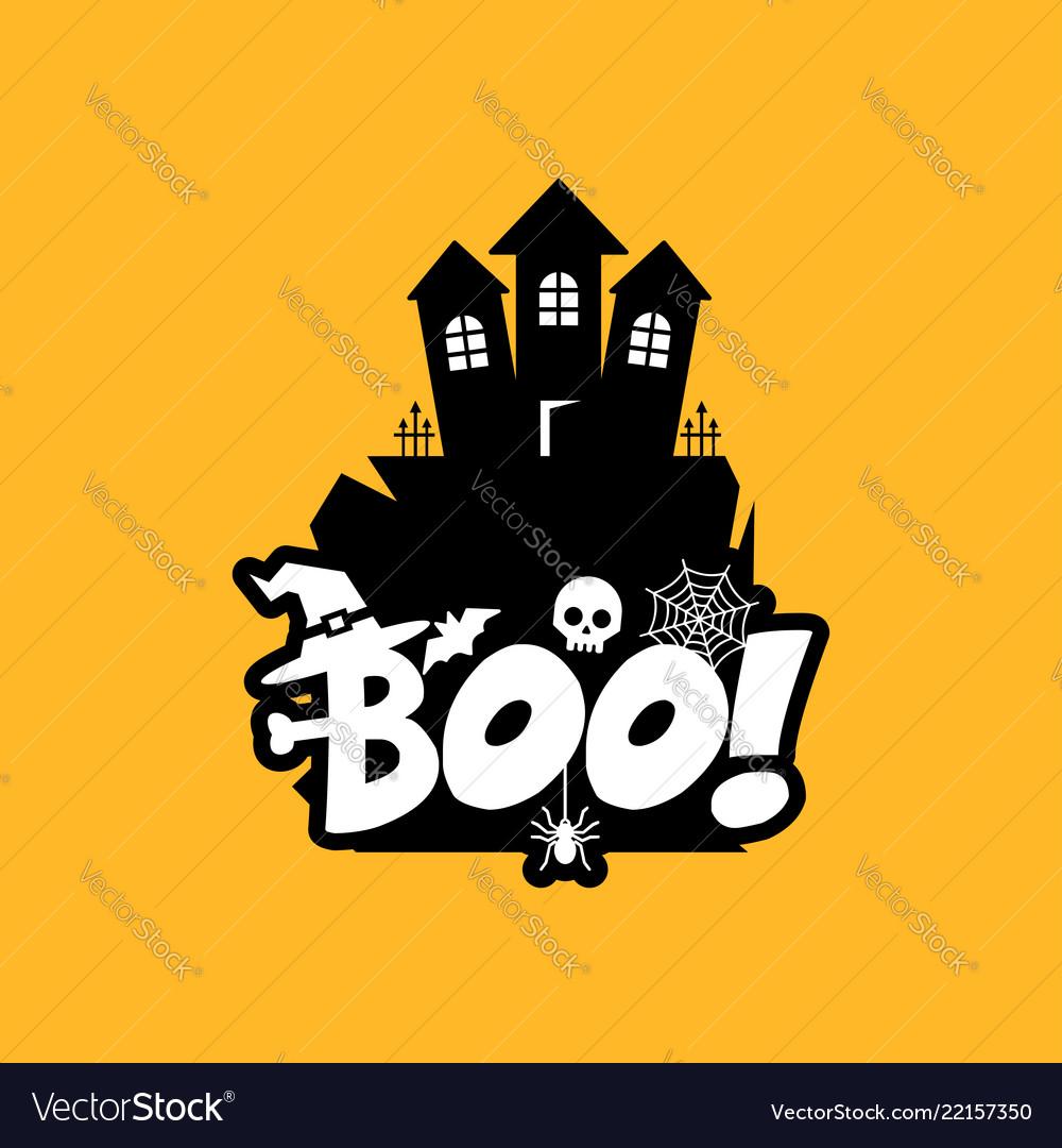 Boo typography design