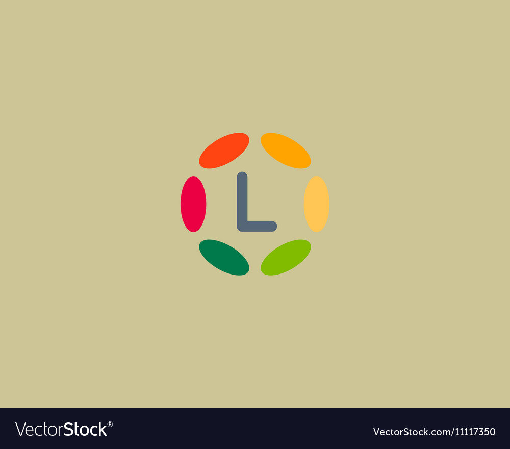 Color letter L logo icon design Hub frame