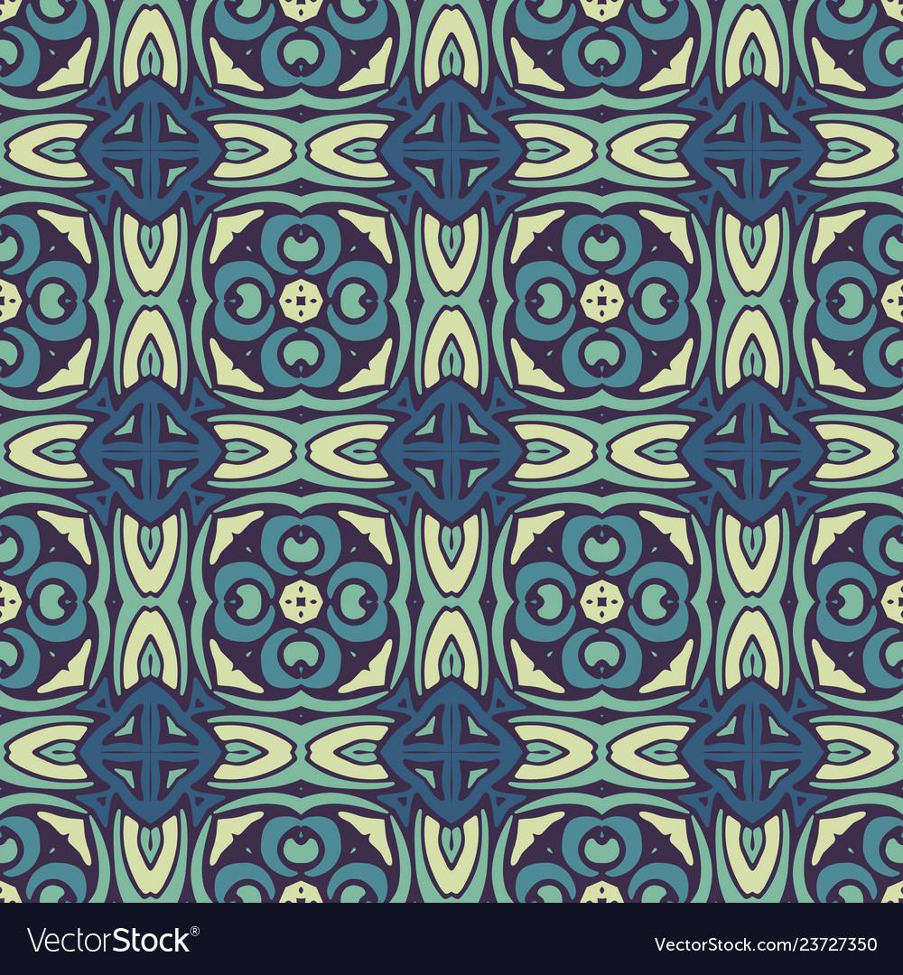Damask mosaic seamless tiles design
