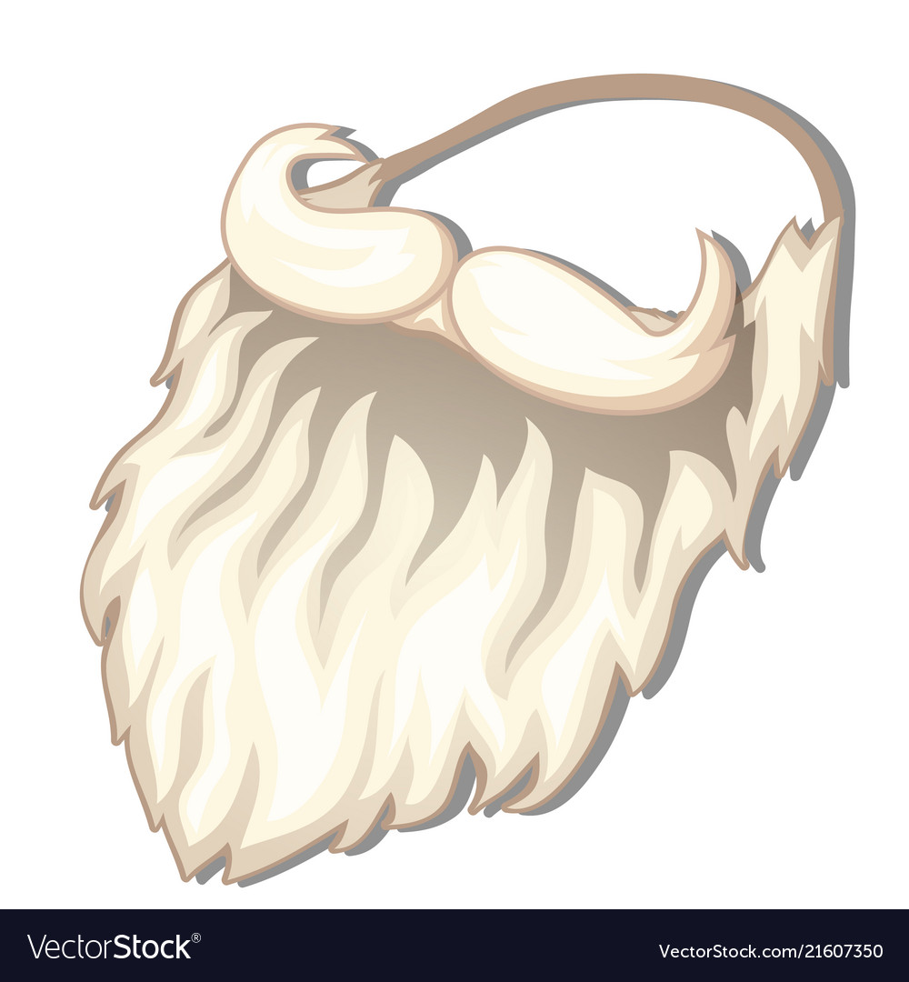 Fake beard and mustache santa claus isolated on