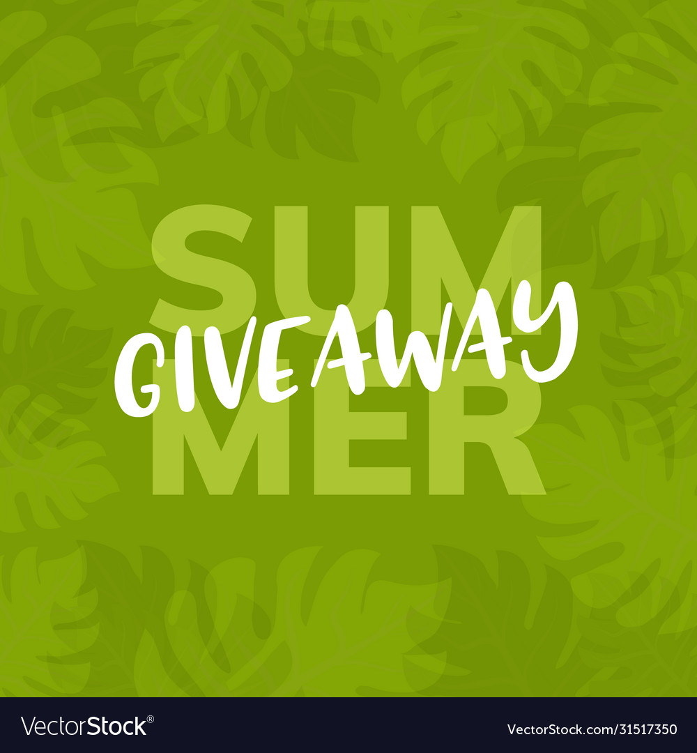 Giveaway summer background give away