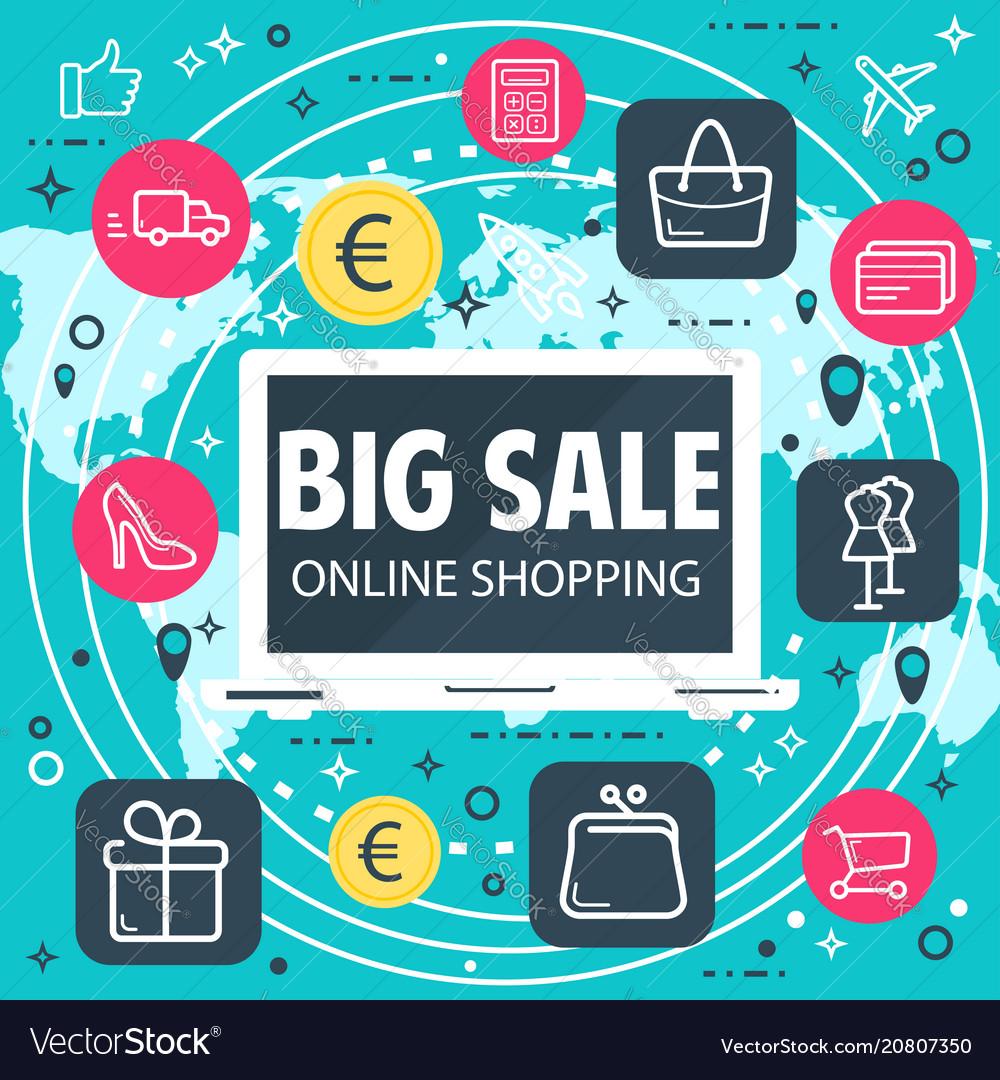 Online shopping internet sale poster