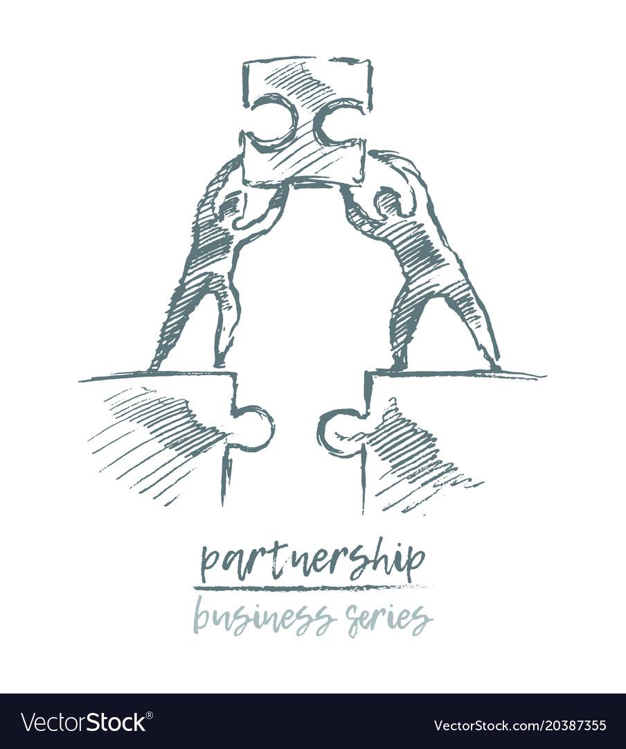 Business concept partnership teamwork