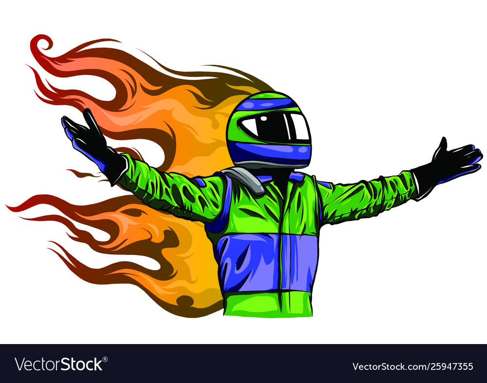 Car racing man cartoon design