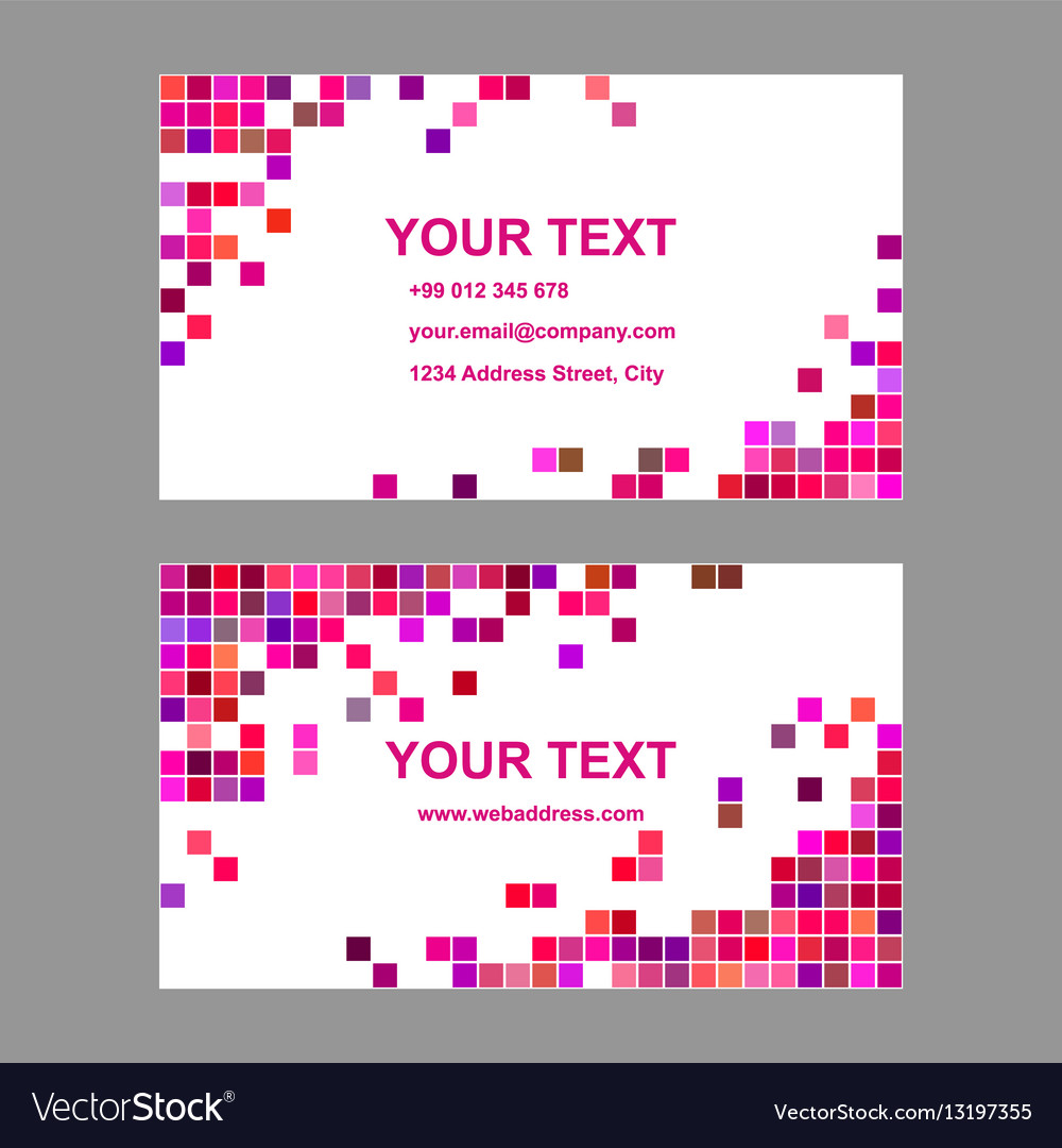 Colorful geometric business card template design