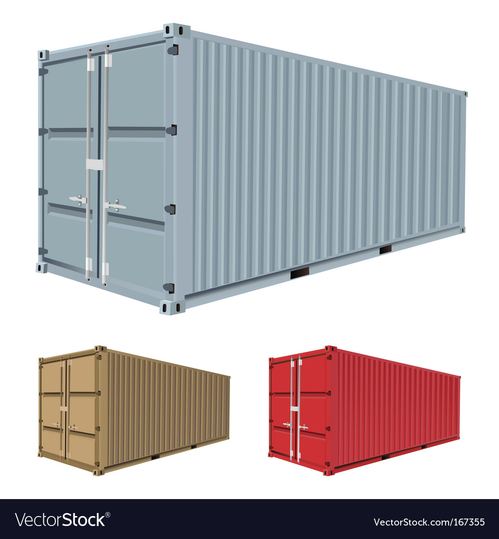 Freight container vector image