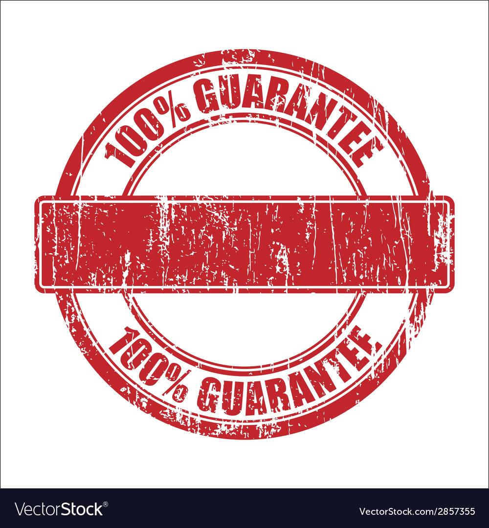 Guarantee stamp vector image