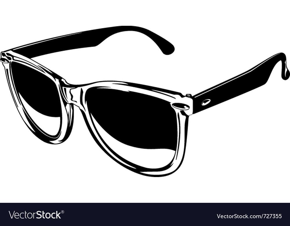 78cf9d56e0 Plastic sunglasses Royalty Free Vector Image - VectorStock