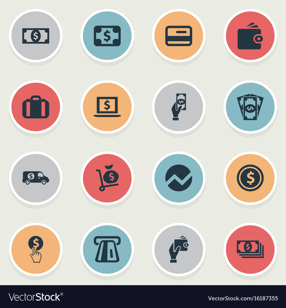 Set of simple banking icons vector image