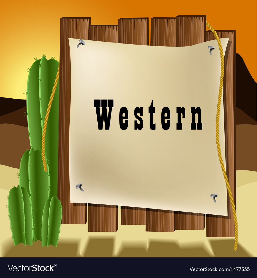 Western text frame