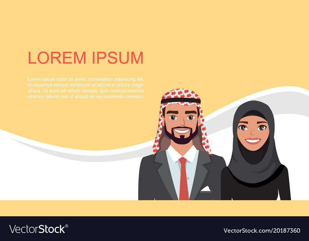 Arab business card design material banner with