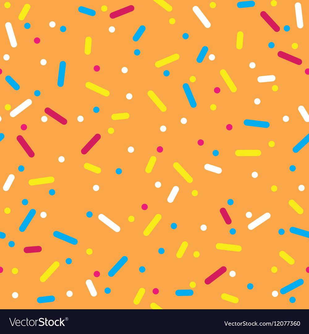 Colorful Sprinkles Donut Glaze Seamless Pattern