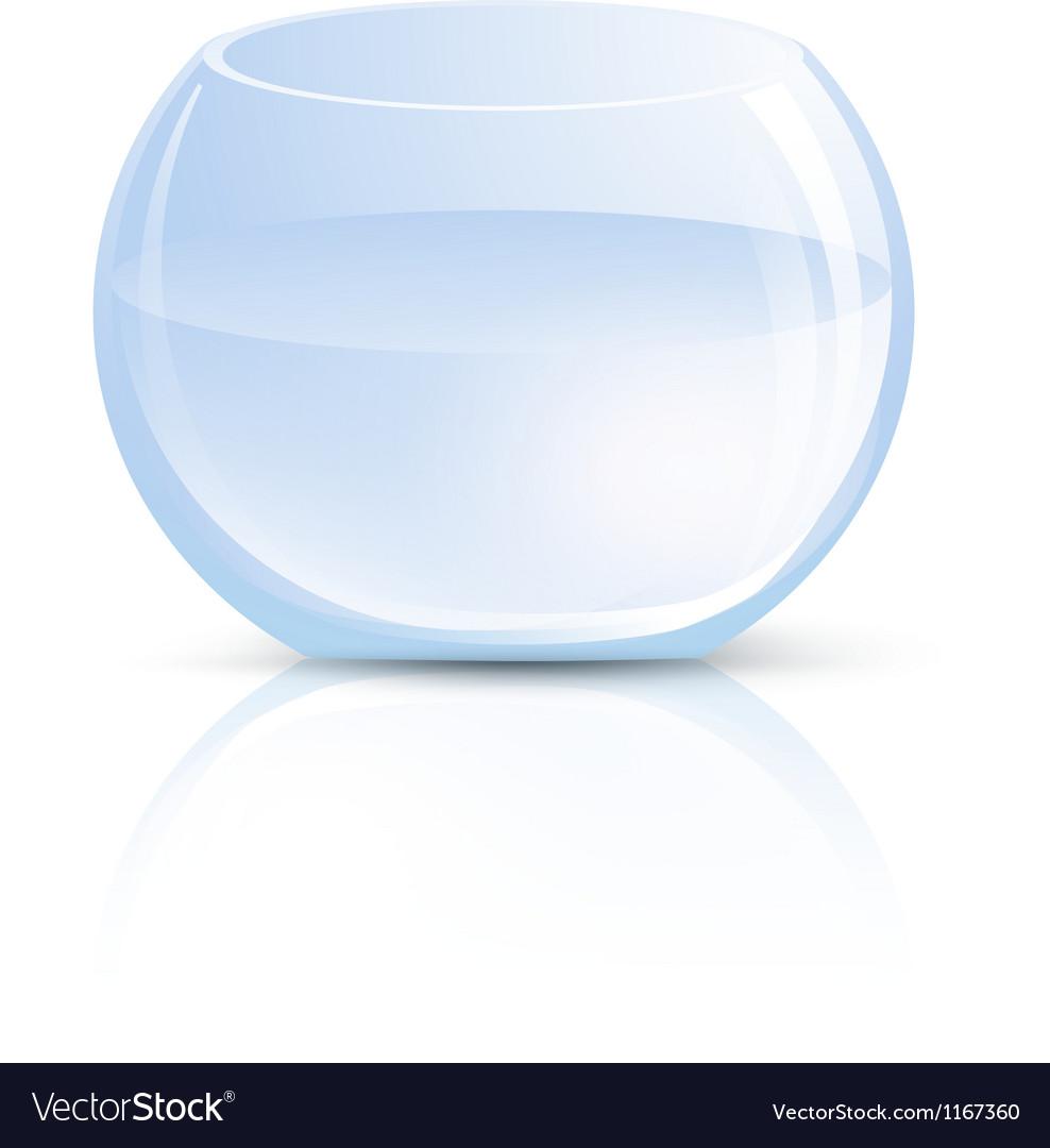 Empty Gl Vase or Round Aquarium Royalty Free Vector Image on