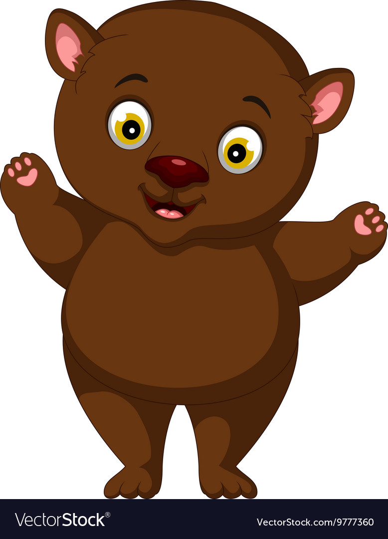 Fat brown bear cartoon