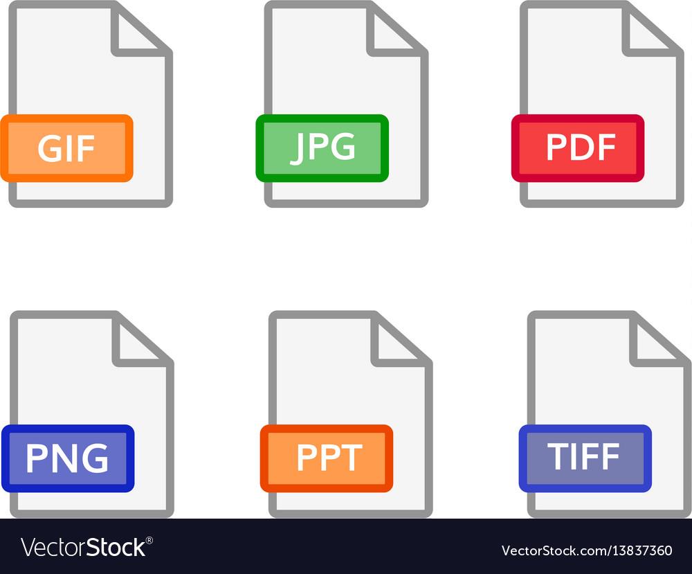 Graphic file icons format document symbol