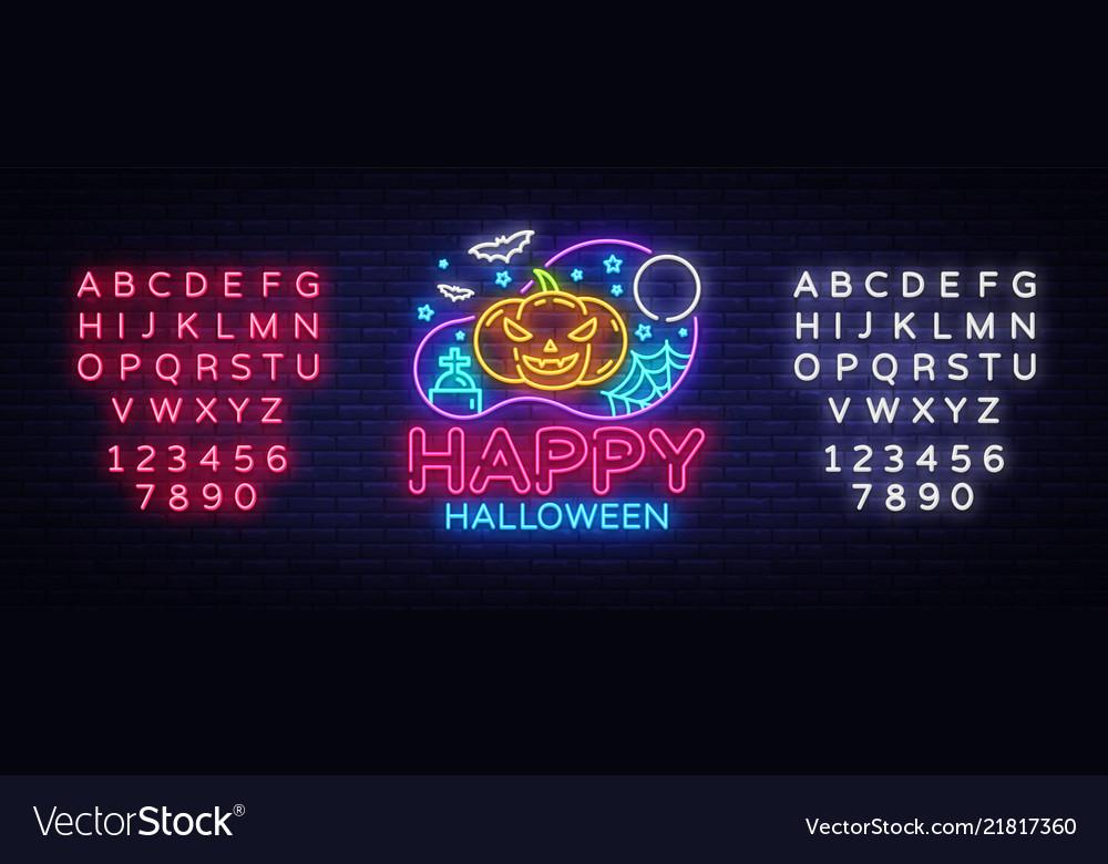Happy halloween party design template