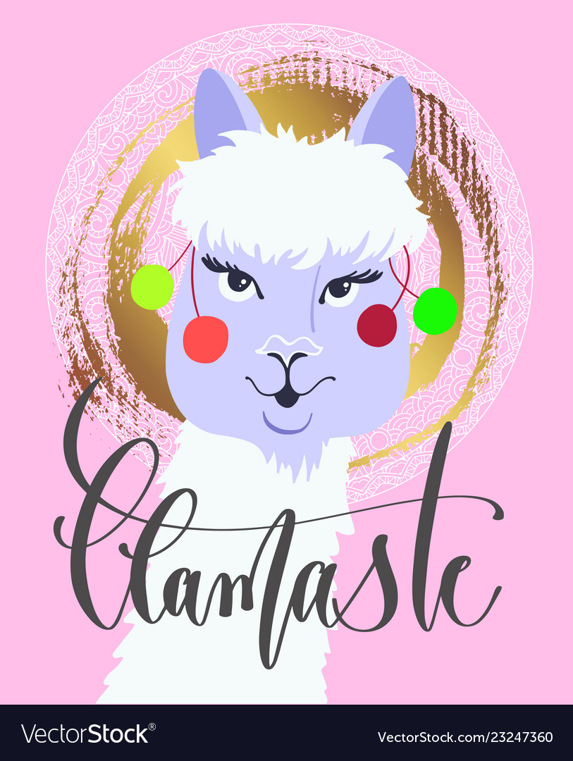 Llamaste - funny poster or greeting card with