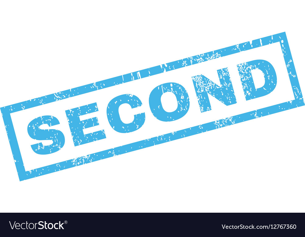 Second Rubber Stamp vector image