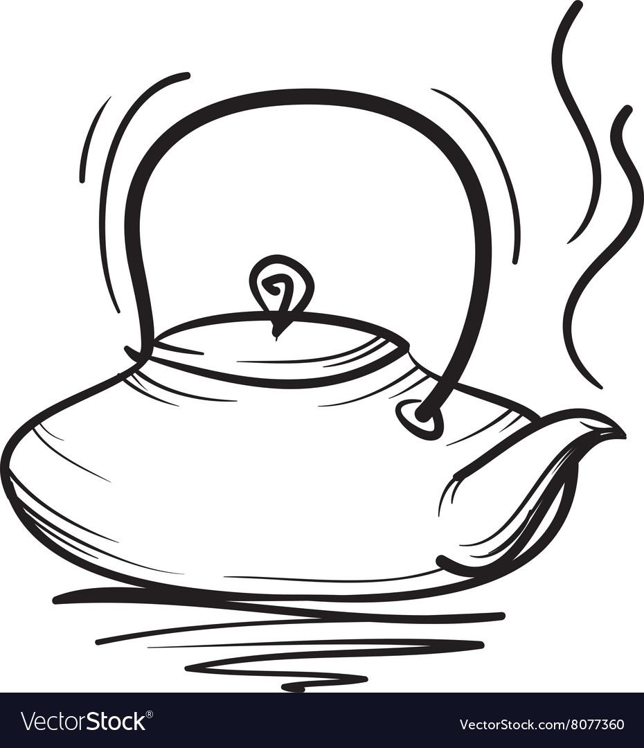 Teapot hand drawn Teapot icon