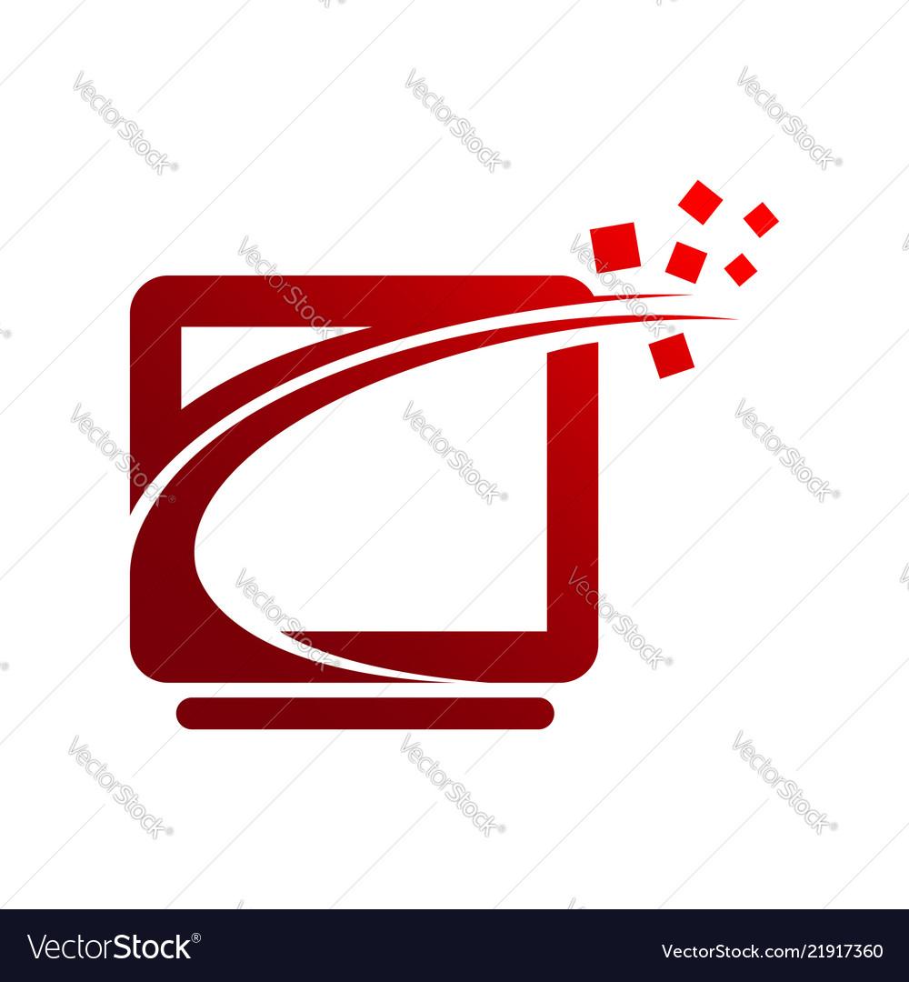 Tech logo concept- logo concept computer network