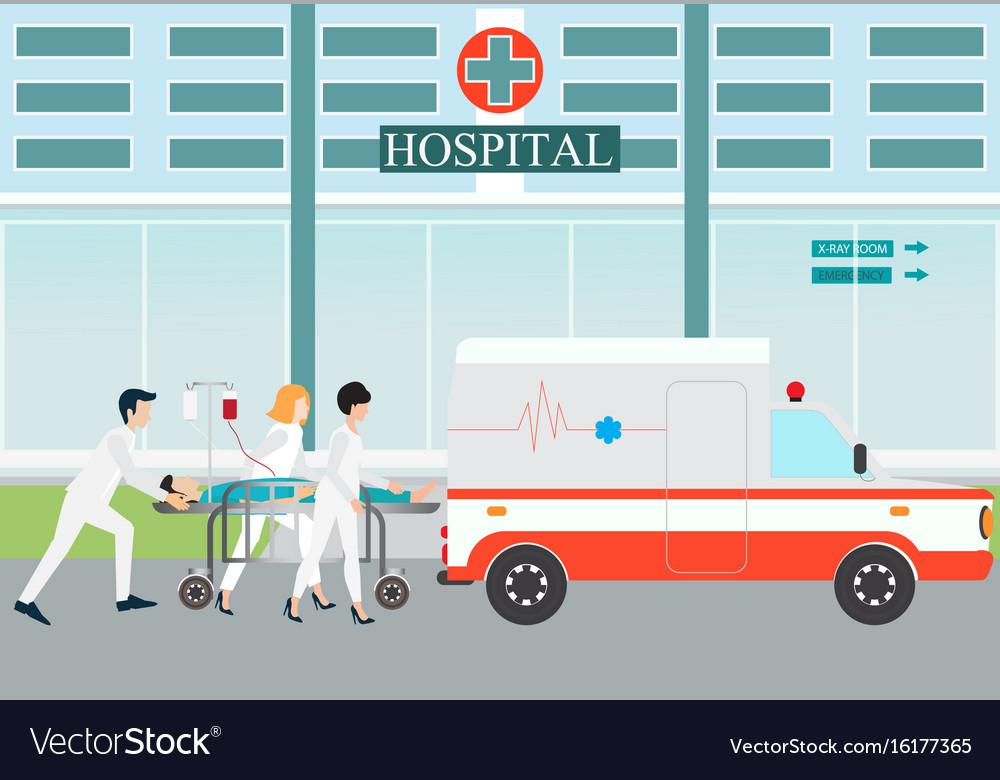 Ambulance emergency medical evacuation accident