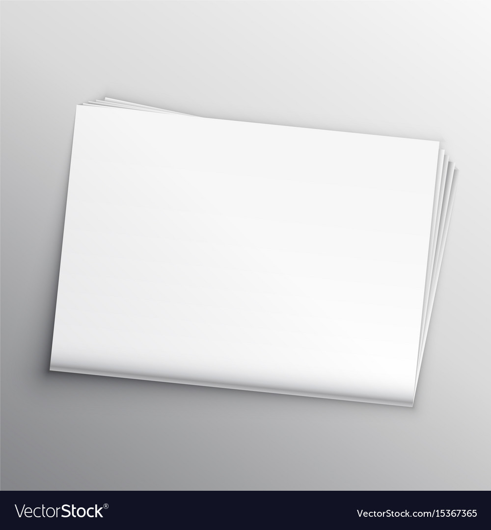 Blank Newspaper Mockup Design Template Vector Image
