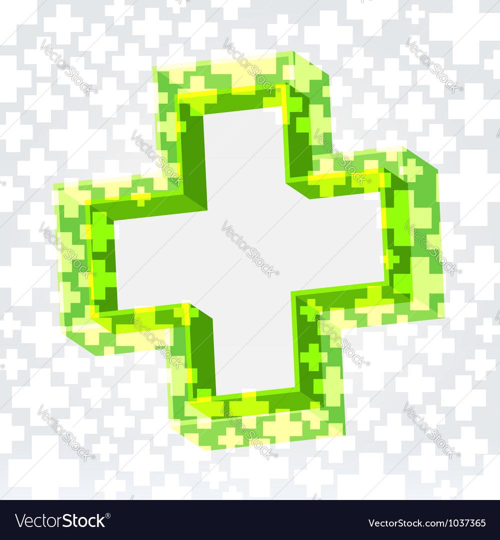Green cross background vector image