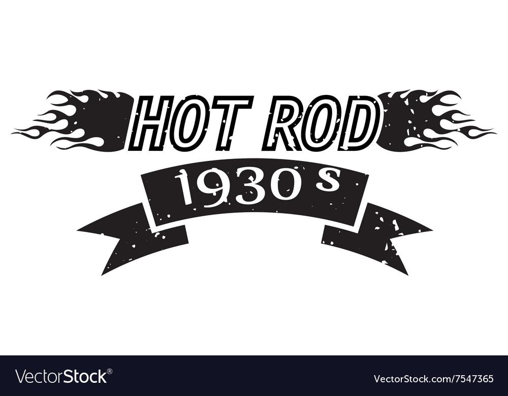 Hot Rod logo vector image