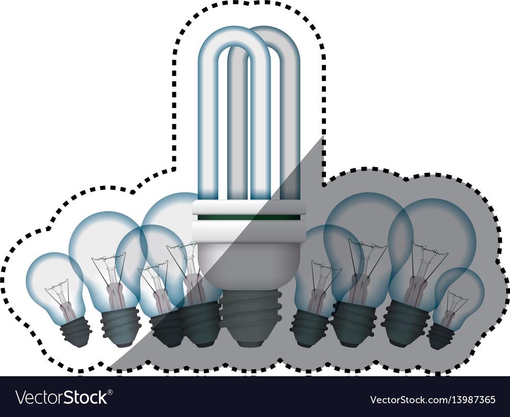 Light bulbs fluorescent incandescent