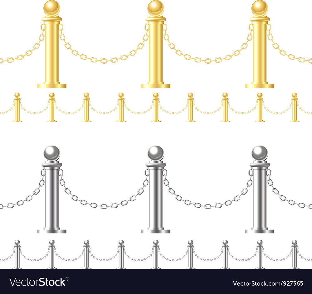Seamless fence isolated on white vector image
