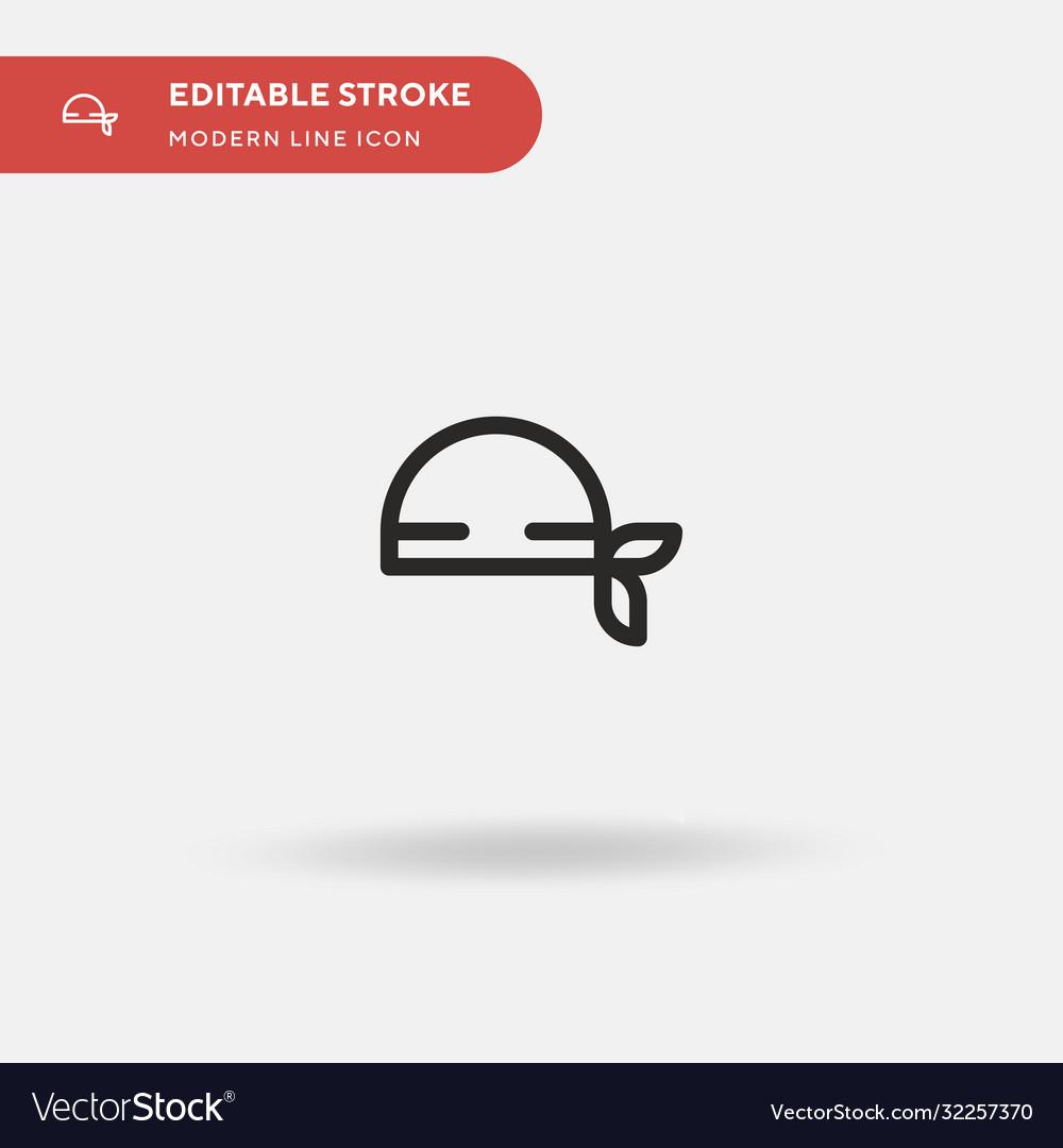 Bandana simple icon symbol